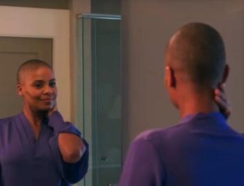 sanaa latham bald